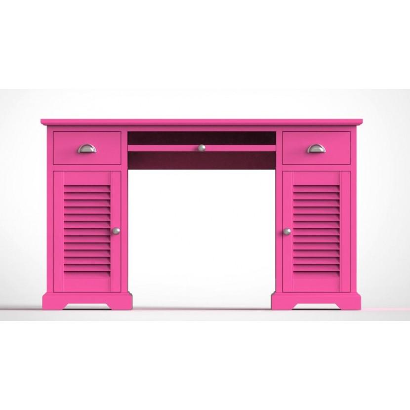 różowe biurko